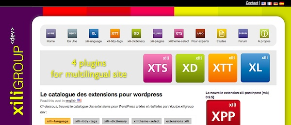 page d'accueil xiligroup dev